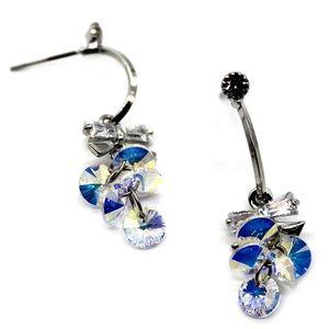 Silver sweety sparkling swarovski crystal earrings